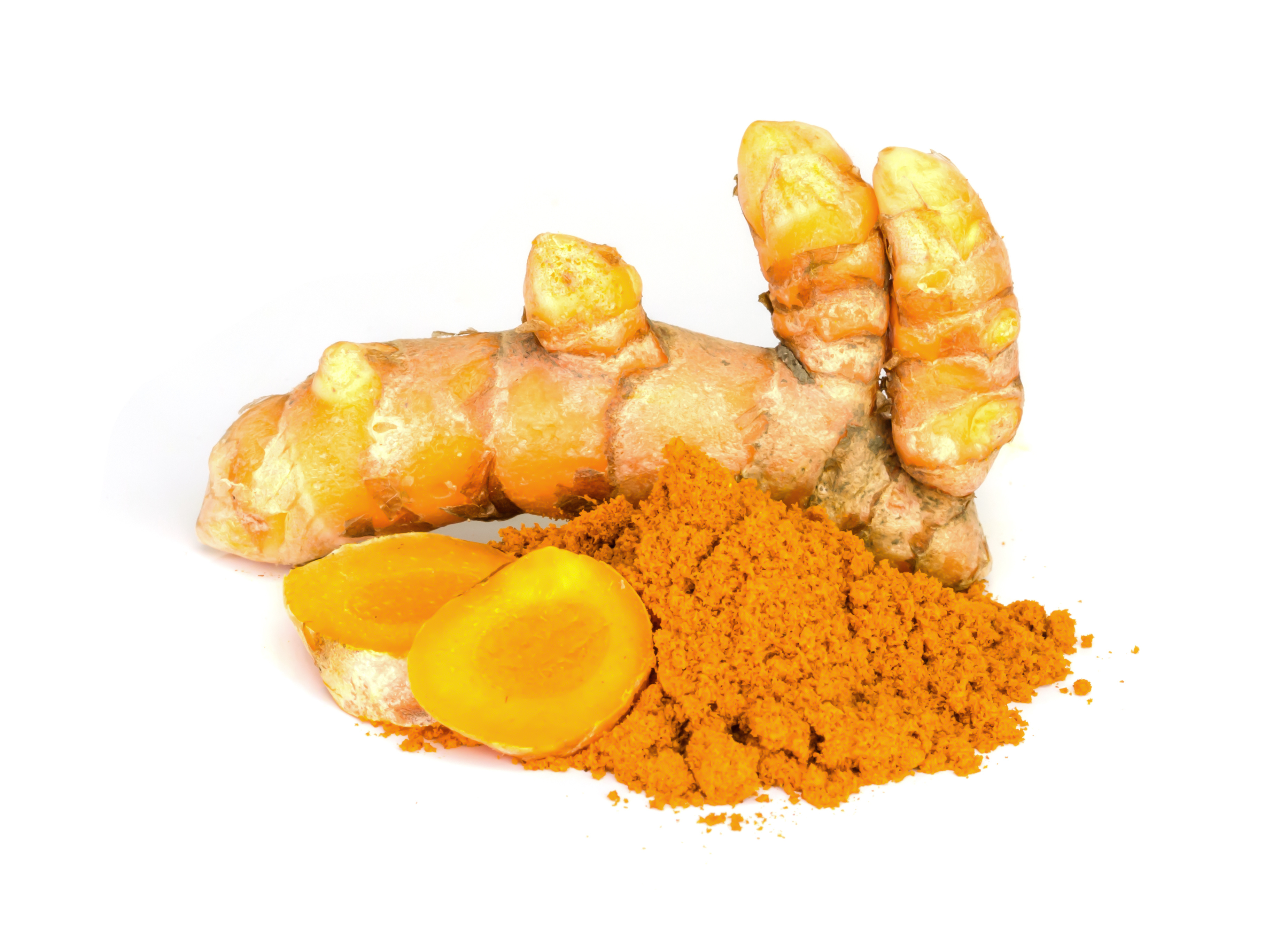 Tumeric and tumeric  powder.